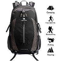 Camel Crown 40L Senderismo Mochila Ligero Viaje Packable Durable Impermeable Deportes Daypack para Acampar Viaje de Pesca Ciclismo Esquí