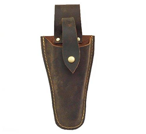Leder-Werkzeugtasche, Hülle für Zangen aus Leder, Holster für den Gürtel, braun
