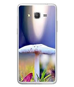 FUSON Designer Back Case Cover for Samsung Galaxy Grand Neo I9060 :: Samsung Galaxy Grand Lite (Grey And White mushrooms Colourfull Mushroom Beautifull Arts)