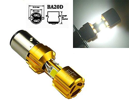 Preisvergleich Produktbild 36W BA20D H6 3 LED COB Roller Motorrad Hi/Lo Scheinwerfer Glühbirne 8-100V 6000K