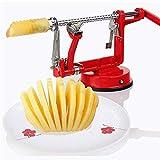Pelador de manzanas 3 en 1 para cortar frutas, herramienta