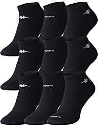 3 - 6 - 9 oder 12 Paar Original KAPPA Sneaker Sportsocken schwarz - Cottonprime