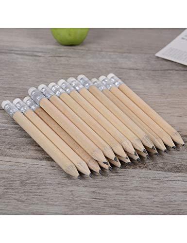 ZLJA 20 Stücke Mini Größe Einfache Holz Bleistift Mit Radiergummi Protokoll Bleistift Kurze Größe Bleistift Für Kinder Und Kinder