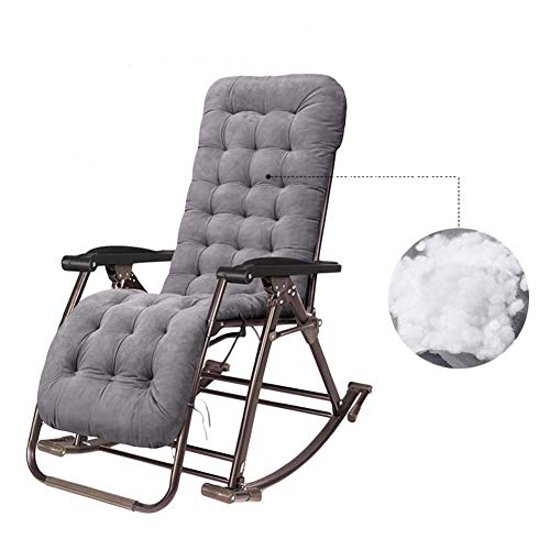 AI LI WEI Home Outdoor/Patio Schaukelstühle Sonnenliege Zero Gravity Chair Outdoor-Camping-Faltbare bewegliche Stühle Unterstützen 200kg Leichte Camping-Stuhl (Color : Gray) -