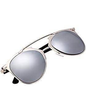Vintage estilo unisex espejo lente gafas de sol gafas gafas de metal marco