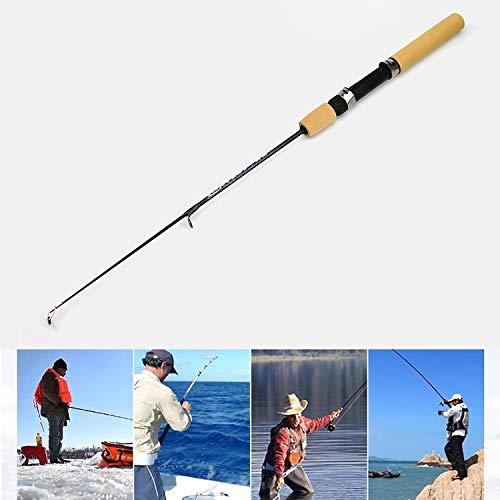 erlängerungslänge: 100 cm, 35 cm tragbare EIS Angelrute Garnelen Rod Lure Rod Fishing Gear Armaturen Werkzeug ()