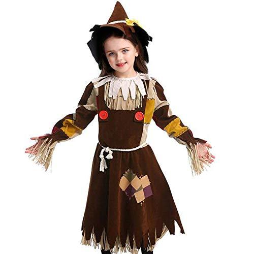 QWE Halloween Kostüm Vogelscheuche Drama Bühnenkostüme Halloween Kostüme Kinder Performance Kostüme (Vogelscheuche Kostüm Kind)