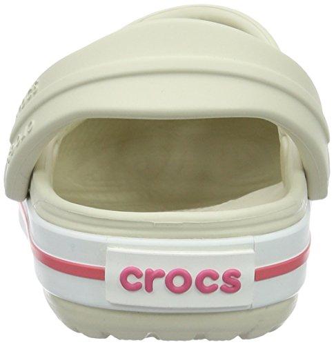 Crocs Crocband Clog K Stu/Mln, Sabots Mixte Enfant Beige (Stucco/Melon)