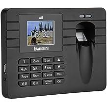 """Danmini Sistema de registro del tiempo por Huella Dactilar con pantalla TFT 2.4"""" Pulgadas -- Controla el horario de sus empleado (capacidad para 60.000 registro de asistencia, grabador de tiempo biometrico)"""