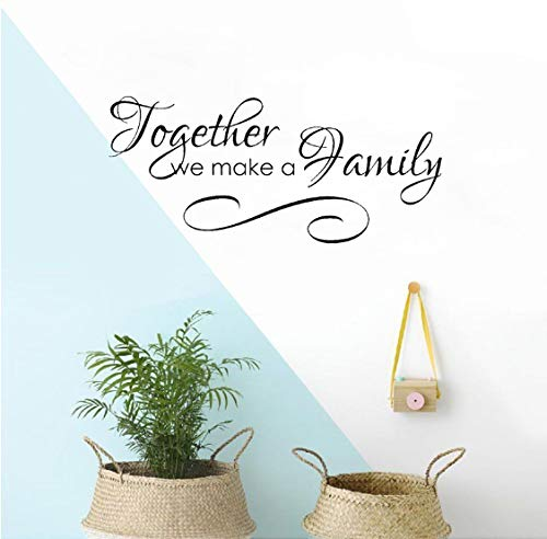 Mode ensemble nous faire une famille Home Decor PVC Wall Sticker 50x22cm