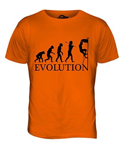 CandyMix Klettern Felsklettern Evolution Des Menschen Herren T Shirt Orange