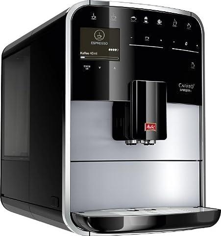 Melitta, Premium Kaffeevollautomat, Caffeo Barista T (Cappuccinatore), F 73/1-101 , Silber/Schwarz, 209187