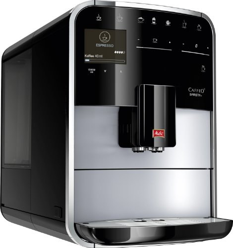 Melitta 970-306 - Cafetera automaticá (1.8L, 15 bar, 1450 W), con molinillo integrado, LCD display, My-Coffee, espumadador de leche, color plata