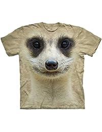 The Mountain Erdmännchen Surikate Big Face T-Shirt beige weiss schwarz