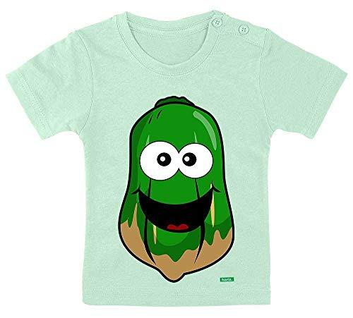 Papaya-grüner Tee (HARIZ Baby T-Shirt Papaya Lachend Frucht Süß Plus Geschenkkarte Zahnpasta Grün 3-9 Monate / 60-69cm)