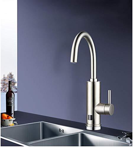 YXMxxm Durchlauferhitzerhahn für Hausinstallationen, Warm- und Kaltwasserzufuhr, 360 ° -Drehung, Warmwasser-Küchenarmatur mit LED-Digitalanzeige