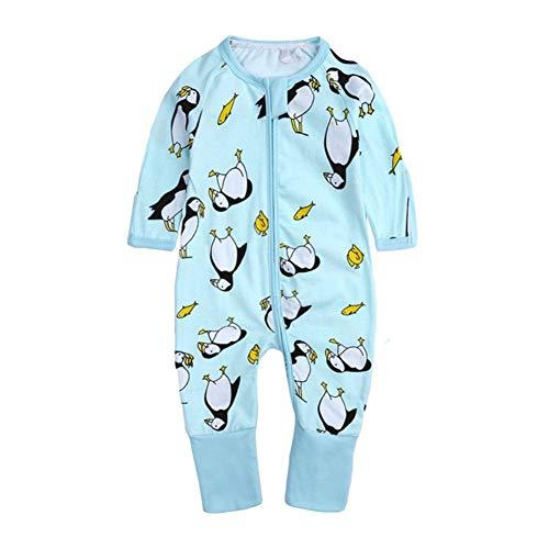 Gyratedream Barboteuse Bébé Garçon Fille Grenouillères Jumpsuit Coton Manches Longues Pyjama Printemps Automne Fermeture Éclair Salopette Tenue 3-36 Mois Enfants