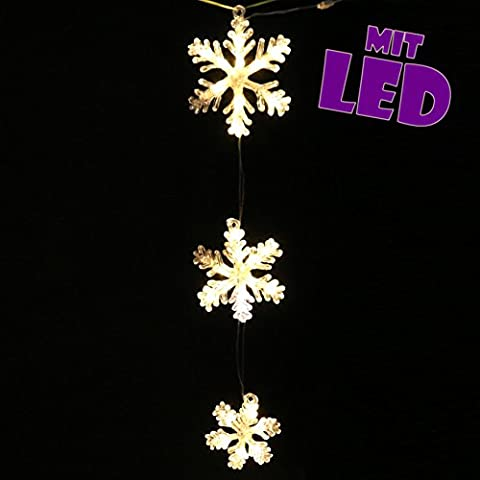 Magical LED with 5m Cable, Set of 3Snowflake Approx. 62cm Snowflake