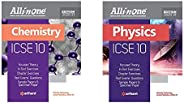 All in One ICSE Chemistry Class 10 2020-20 + All in One ICSE Physics Class 10th - Set of 2 Books(New Edition)