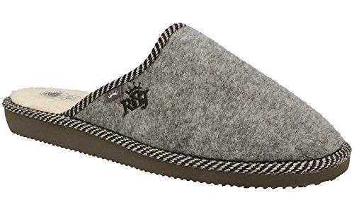 RBJ leather shoes Herren Natur Wollfilz Pantoffeln für Wohlgefühl - warm, atmungsaktiv,...
