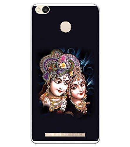 YuBingo Soft Silicone Back Case for Redmi 3S Prime (with Sensor) | Potrait of Radha and Krishna | Designer UV Printed Mobile Cover | Shockproof | 360 Coverage | Slim | Light