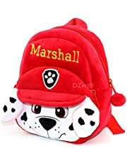 DZert Kids School Bag Soft Plush Backpacks Cartoon/Boy/Girl/Baby/ (2-5 Years) (Marshall)