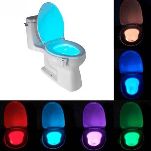 Luce led illuminazione 8 colori water toilet WC tazza bagno sensore movimento