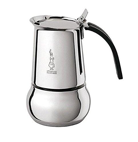 Bialetti Kitty 4 Tassen schwarz Espressokocher Edelstahl