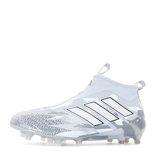Ace 17+ Pure Control FG Football Boots - Clear Grey/White/Core Black - Size 6