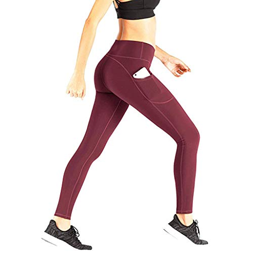 HUIHUI jogginghose damen grau meliert leggings lederoptik übergroßen strumpfhose gelb schwarz gestreift (rot,L (DE 38)) (Strumpfhosen Gestreiften Rot Und Schwarz)