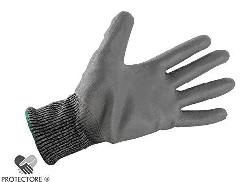 PROTECTORE Arbeitshandschuh - Schnittschutzhandschuh - Handschuh - Cupropa Größe 9 - grau
