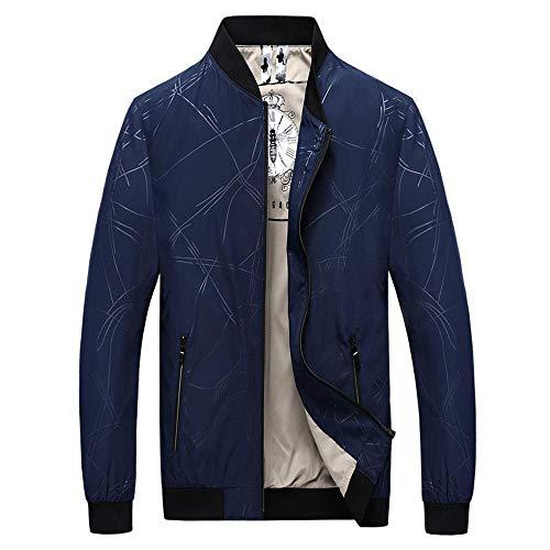 Fashion Hoodies Klassische Warm Sweatshirts Mens College Jacke, Casual Line Print Bomberjacke Outwear Sport Jumper College Mantel Top (Farbe...