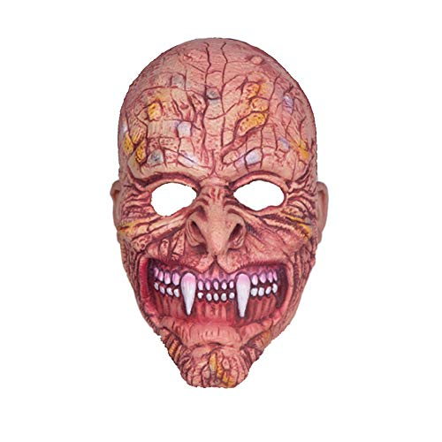 CGBF-Halloween Maske Spitzen Zähnen Monster Ghost Wild Horror Beängstigend Latex Maske Neuheit Deluxe Halloween Kostüm Party Cosplay Kostüm Requisiten - Deluxe Burlesque Kostüm