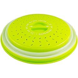 Colonel Cook®-✮Marque Française✮-Cloche Micro Ondes-sans BPA-✮Garantie A Vie✮-Couvercle Micro-Ondes 3en1-Cloche pour Micro Onde Retractable Anti Vapeur et Fonction Passoire-Accessoire Lave Vaisselle