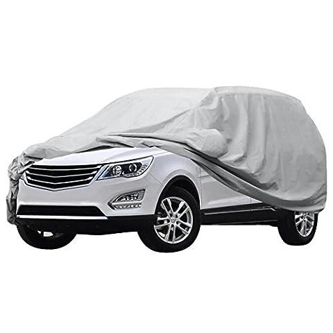 Audew Auto Abdeckung Vollgarage wasserdichte Auto garage Ganzgarage Abdeck plane UV Sonne Regen Schutz (drei Größe zu (Vollgarage Autoplane)