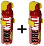 #4: FIRE KILL FIRE Extinguisher Spray 500 ML Each in RED 2 PCS (Mild Stone Body) - Life Long Durable for Home/CAR/Office ETC.