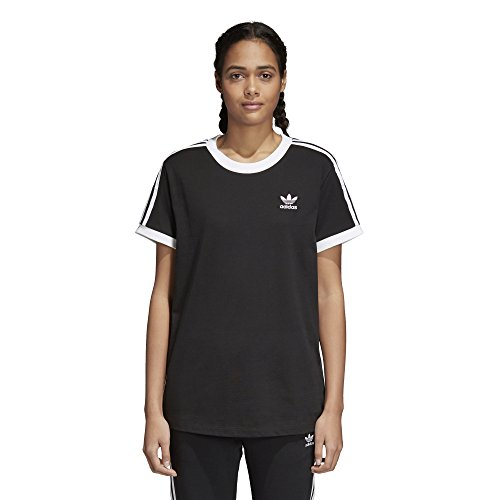 adidas Originals Womens 3 Stripes Tee Short Sleeve T-Shirt