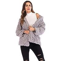 Yvelands Mujeres Sudadera con Capucha Abrigo de Invierno Cálido Bolsillos de Lana Abrigo de Algodón Outwear Top Blusa