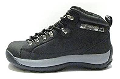 Womens Leather Upper, Steel Toe, Safety Boots with Oil Resistant, Anti Slip Sole - GR387