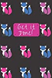 Get it Done!: Daily To-Do List Journal with Checkboxes Foxes Blue Purple Pink