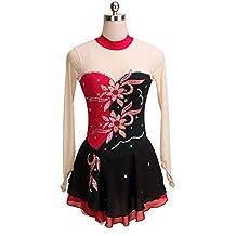 5ad7a45dbee6 Jalunth Robe de Patinage Artistique pour Femmes et Filles - Tenues de  Patinage sur Glace pour