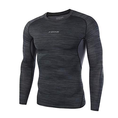 Men Long Sleeve Tops HEHEM Man Workout Leggings Fitness Sports Gym Running  Yoga Athletic Shirt Top 4b71cf8c9b7c