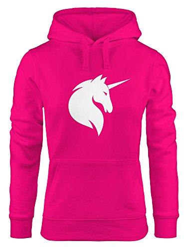 Hoodie Damen Einhorn Unicorn Sweatshirt Kapuze Kapuzenpullover Moonworks® pink XL