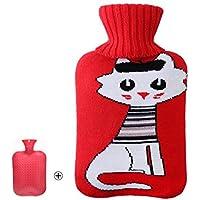 1 Liter Wärmflasche mit Strickdecke Schönes Katzen-Design preisvergleich bei billige-tabletten.eu