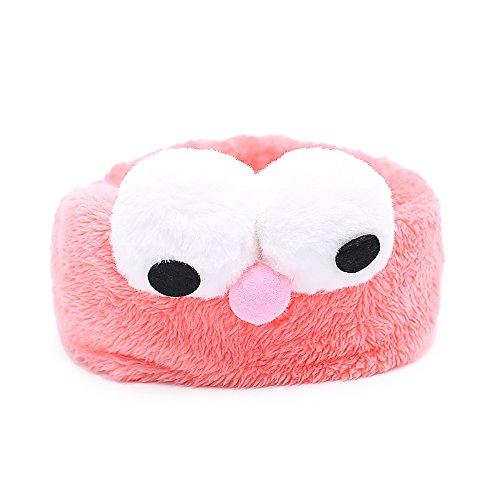 (Cartoon-Haarband mit großen Augen von Tong Yue, für Frauen und Mädchen, Stretch-Haarband, Plüsch-Haarband, 2Stück)