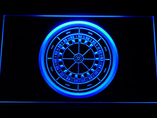 Enseigne Lumineuse m074-b Casino Roulette Game Neon Light Sign