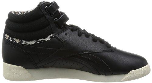 Reebok  F/S Hi Eden,  Sneaker donna Nero (Noir (Black/Sandtrap/Canvas))