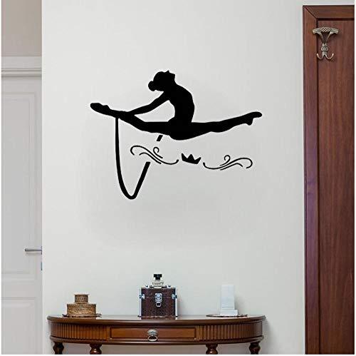 Wandaufkleber Wandsticker Wandtattoo 55 Cm * 41,3 Cm Coolsten Gymnastik Decor Personalisierte Wohnzimmer Das Schlafzimmer Pvc Wandaufkleber