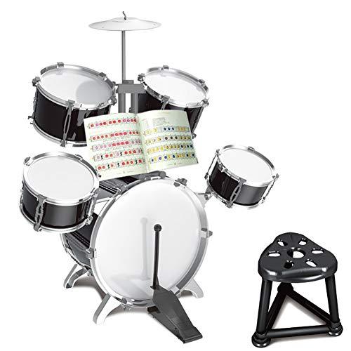 HUANGFU Drum Set Principiante di Simulazione di Spartiti Musicali per Batteria Jazz per Bambini Batteria Ragazzo Ragazza Gioco Musicale Giocattolo