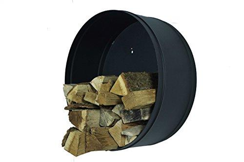 Spinder Design Chimenea Madera estantes Banshee Negro, Redondas para leña
